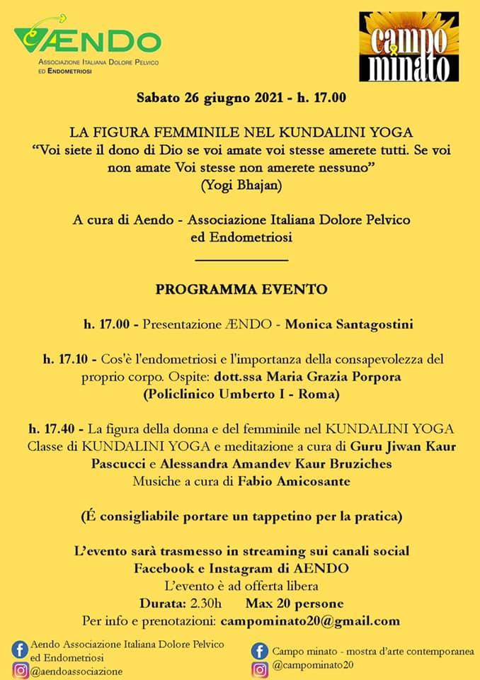 Kundalini Yoga a Campo Minato per Aendo, 26 giugno 2021